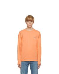 MAISON KITSUNÉ Orange Fox Head Long Sleeve T Shirt