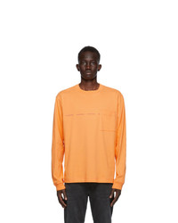Acne Studios Orange Logo Long Sleeve T Shirt