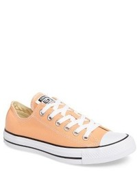 Orange Low Top Sneakers