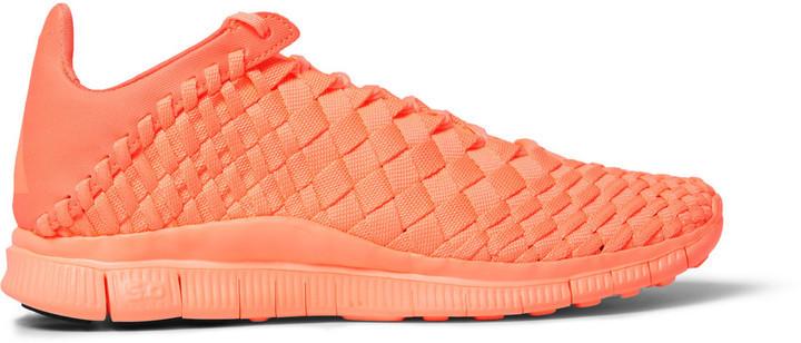 detailed look 6a579 3124a ... Orange Low Top Sneakers Nike Free Inneva Woven Sneakers ...