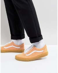 Vans Old Skool Gum Sole Trainers In Orange