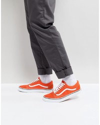 Vans Old Skool Trainers In Orange Va38g12w1