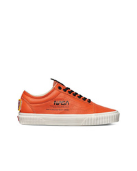 Vans Orange And Black Nasa Old Skool Space Voyager Firecracker Sneakers