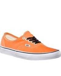 Vans Authentic Persimmon Orangetrue White Fashion Sneakers