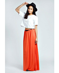 Orange maxi skirt original 1467915