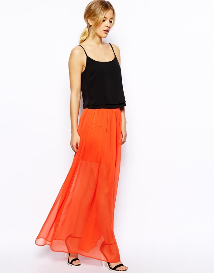 asos wrap maxi skirt in chiffon where to buy how to wear