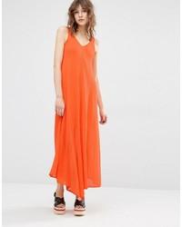 Mango V Neck Long Midi Dress