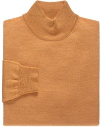 Orange Mock-Neck Sweater