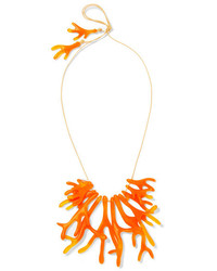 Coral fan resin necklace orange medium 954430