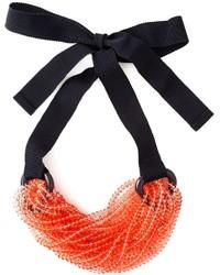 Emporio Armani Beaded Strand Tie Necklace