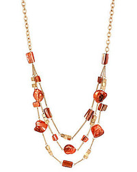 Kenneth Cole New York Mixed Shell Bead Illusion Necklace