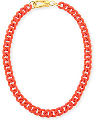 Marc by Marc Jacobs Rubber Chain Necklace Orange