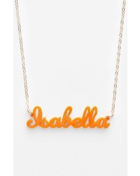 Script font personalized nameplate pendant necklace medium 3649909