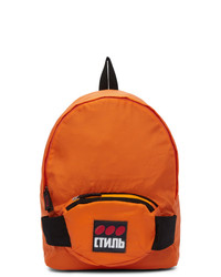 Heron Preston Orange Fanny Pack Backpack