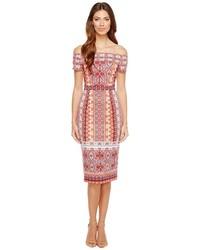 Maggy London Off The Shoulder Scuba Midi Dress Dress