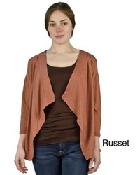 Atoz russet open front cardigan medium 465813