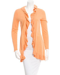 Magaschoni Ruffle Trimmed Cardigan