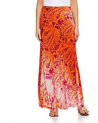 Casa sunrise maxi skirt medium 130023