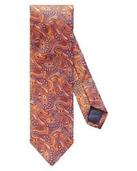 Eton Paisley Print Silk Tie