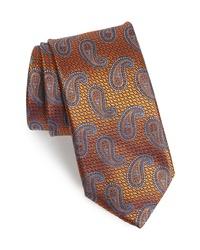 Canali Paisley Silk X Long Tie