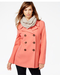 Orange Pea Coats for Women | Women's Fashion