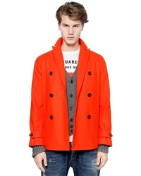 DSquared Workhouse Wool Pea Coat