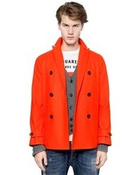 DSQUARED2 Workhouse Wool Pea Coat