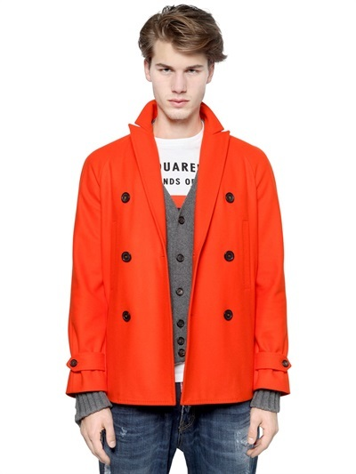 DSQUARED2 Workhouse Wool Pea Coat | Where to buy & how to wear