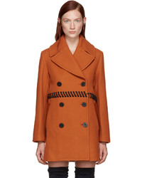 3.1 Phillip Lim Orange Laced Peacoat
