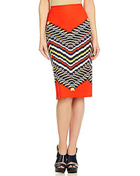 Orange pencil skirt original 1456899