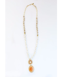 Chicks Mty Long Agate Necklace