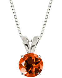 Fine Jewelry Lab Created Sapphire 10k White Gold Pendant Necklace