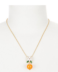 Kate Spade New York Citrus Crush Orange Blossom Mini Pendant Necklace