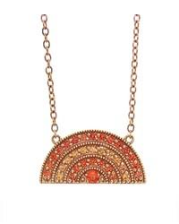 Andrea Fohrman Orange Sapphire Rainbow Pendant Necklace