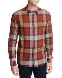 Buffalo plaid sport shirt orange medium 3729248
