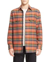 Hudson plaid shirt jacket medium 667025