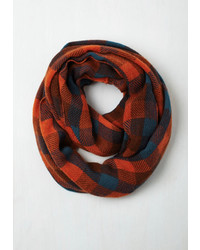 Ana Accessories Inc Train Station Anticipation Circle Scarf In Paprika