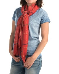 Roffe Accessories Plaid Fringed Scarf