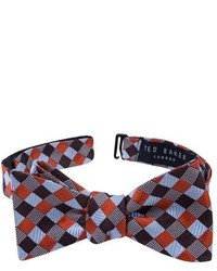 Ted Baker London Plaid Silk Bow Tie