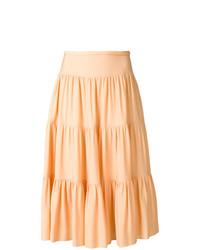 Chloé Tiered Midi Skirt