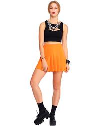 e17dc1c223 Yoana Baraschi Neon Pleated Skirt Out of stock · Romwe Orange Pleated Skirt