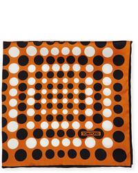 Irregular dot print silk pocket square medium 700104