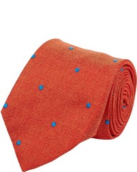 Polka dot jacquard neck tie orange medium 328449