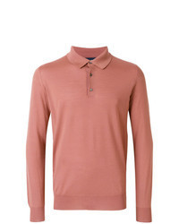 Orange Polo Neck Sweater