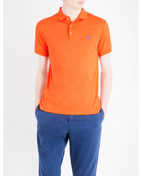Polo Ralph Lauren Logo Embroidered Slim Fit Cotton Polo Shirt