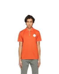 Moncler Orange Logo Patch Polo