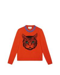 Mystic cat wool knit sweater medium 8621089