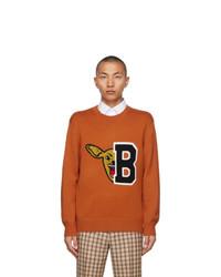 Burberry Orange Varsity Graphic Ivie Sweater