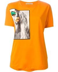 Acne Studios Vista Portrait Print T Shirt