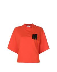 MSGM High Neck Logo T Shirt